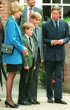 Prince Charles and Princess Diana and their sons, Prince William and Prince Harry, on Sept.6,1995.