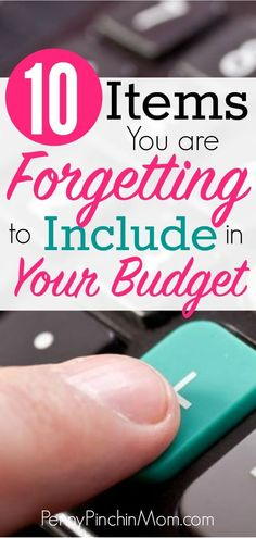 Are you forgetting to add these items to your budget? These are the most common categories people overlook when creating their monthly budget plan. Find out if you have forgotten these on your budget. How to Create a Budget Making A Budget, Create A Budget, Budget Help, Budgeting Finances, Budgeting Tips, Ways To Save Money, Money Saving Tips, Money Savers, Money Tips