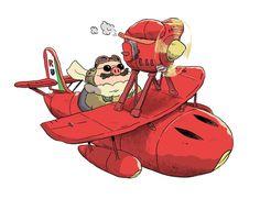 Drew a Porco Rosso, possibly for Ghibli Jam http://ghiblijam.tumblr.com