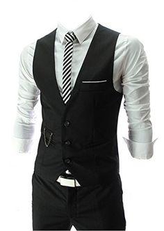 QinYing V-neck Sleeveless Slim Fit Jacket Men Business Suit Vests Black XL QinYing http://www.amazon.com/dp/B00LN60KUA/ref=cm_sw_r_pi_dp_qJQdxb1A5YNE8