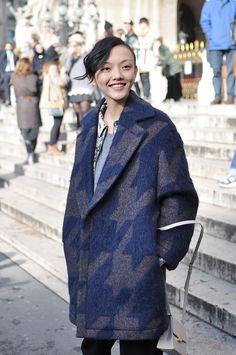 Oversized coat at Stella McCartney, Paris