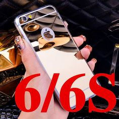 Luxury Mirror Electroplating Soft Clear TPU Cases For iphone 6 / 6S 4.7 inch For iPhone6 Plus 5.5 inch 5 5s Back Cover Bags