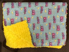 blue and pink owls with yellow rose on the back. small blanket for travel or in the stroller. Small Blankets, Stroller Blanket, Pink Owl, Yellow Roses, Snuggles, Owls, How To Make, Baby, Travel