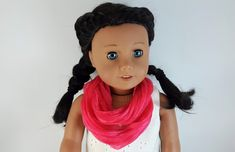 Brown Bird, Little Brown, Pink Scarves, Ag Dolls, 18 Inch Doll, Doll Accessories, Pink Dress, Doll Clothes, Infinity