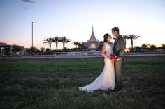 Sunset Wedding Photos Gilbert Temple