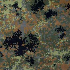 5 Farben Bundeswehr Segeltuch / Planen-Stoff Tarndruck Flecktarn Camouflage…