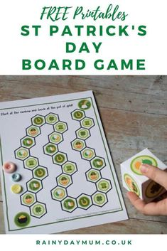 Print and Play this FREE St Patrick's Day game as you and your child race to the pot of gold at the end of the rainbow. Preschool Learning Activities, Toddler Preschool, Toddler Crafts, Activities For Kids, St Patricks Day Crafts For Kids, St Patrick's Day Crafts, Holiday Crafts, Holiday Ideas, Crafts For Seniors