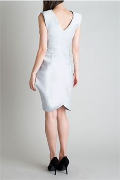 Cement Twill Cocoon Dress