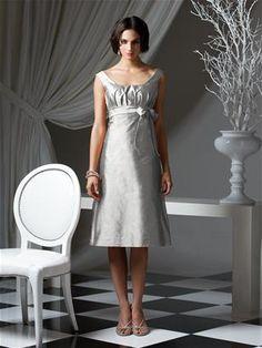 Metallic silver bridesmaid dress.  Love the shine!