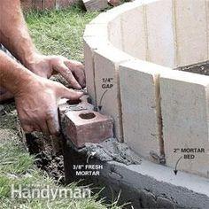 Photo 10: Set the face brick
