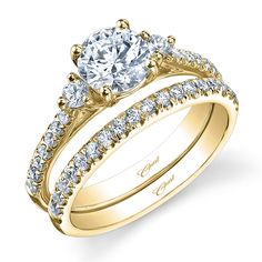 Engagement Ring Wedding I Love The Matching Set That Go Together Minus Two Small Stones Of Side Stone