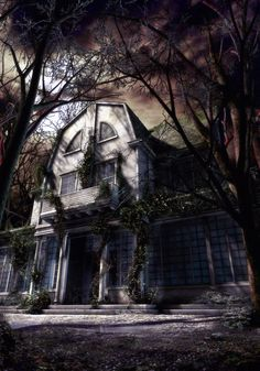 """Horror Movie Art : The Amityville Horror 1978 """"Amityville"""" by Elizom @ deviantart Horror Icons, Horror Movie Posters, Horror Films, Scary Places, Haunted Places, The Amityville Horror House, Paranormal Pictures, Fantasy Forest, Classic Horror Movies"""