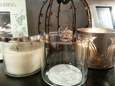How to get your Bath and Body Works candle jars clean and free of wax. Perfect to reuse as small storage solutions!
