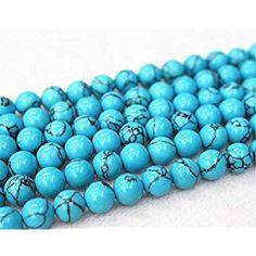 8 mm Fashion Natural Turquoise Perles Rondes Pierre Stretch Bangle Bracelet Bijoux