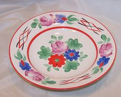 Hungarian Folk Art Display or Serving Bowl, Hungary Budapest