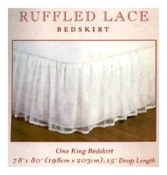 Ruffled Lace Bedskirt 15 Inch Drop Length By Cal King