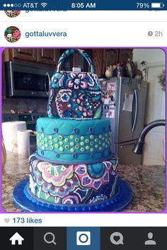 I'm in love with a this vera Bradley cake!