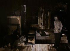 Adrian Ghenie, The Nightmare, 2007, oil on canvas, 145 x 200 cm © Nicodim Gallery
