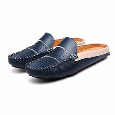 Man Casual Soft Hand Stitching Originale Leather Flat Mocassini Driving Shoes