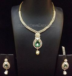 Simple Diamond Sets by Bombay Jewellery | Jewellery Designs