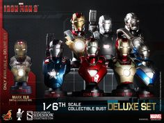 Iron Man 3 Busts 1/6 11 cm Deluxe Set (8) - Model Collector Shop