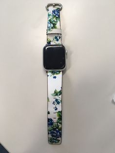 Manufacturer Leather Loop for iwatch 4 3 2 1 Strap for Apple Watch Band Flower Design Apple Watch Bands Fashion, Apple Products, Apple Watch Series, Metal Buckles, Square Watch, Affordable Fashion, Flower Designs, Floral Prints, Watches