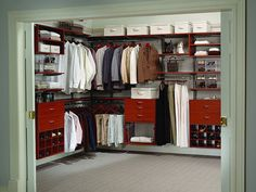 cherry finish 30 Fascinating Walk In Closet Design Collection