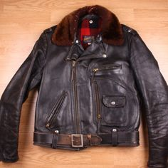 Buco Leather Jacket model J-22 in Horsehide from the early 1950's.