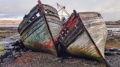 Abandoned boats on the Isle of Mull, Scotland