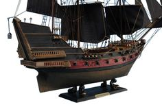Black Bart's Royal Fortune Limited Model Pirate Ship 24 inch Black Sails SOLD FULLY ASSEMBLED Ready for Immediate Display - Not a Model Ship kit Search for lost treasure as you set sail for adventure