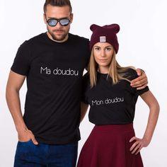 t-shirt couple Mon doudou Ma doudou T-shirt Couple, Pyjamas Assortis, Couple Tshirts, T Shirt, Couples, Tops, Women, Fashion, Couple Clothes