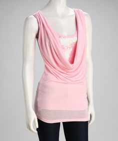 Take a look at this Soft Pink Sequin Drape Top on zulily today!