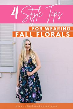 Floral dresses are perfect for fall! With my style tips, you'll be an expert on how to wear this wardrobe must! Let's elevate your style and make your outfit stand out! #wardrobemust #elevateyourstyle #fallvibes #fallfashion