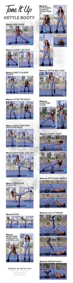 Tone It Up's Heart Pumping, Kettle Booty Workout Cheat Sheet!