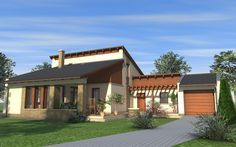 Emeletes családi ház 145 m2 Mansions, House Styles, Outdoor Decor, Modern, Home Decor, Trendy Tree, Decoration Home, Room Decor, Villas