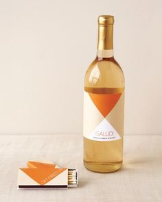 Print out these cool geometric labels, add them to matchboxes or wine bottles, and you've got yourself a neat-o favor.