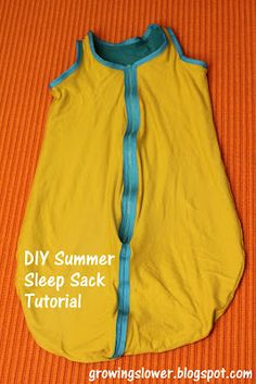GrowingSlower: DIY Summer Sleep Sack for Baby Tutorial