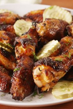 Chicken Wings Pickleback Chicken Wings - I bet this would be great on all cuts of chicken!Pickleback Chicken Wings - I bet this would be great on all cuts of chicken! Lemon Pepper Chicken Wings, Baked Chicken Wings, Oven Baked Chicken, Keto Chicken, Orange Chicken, Rotisserie Chicken, Healthy Chicken, Grilled Chicken, Chicken Skewers