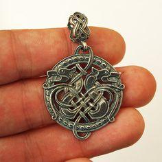 Celtic wolf, Wolf necklace, Wolf jewelry, Wolf pendant, Celtic... ($22) ❤ liked on Polyvore featuring jewelry, pendants, celtic pendant, pendant jewelry, celtic jewelry, pendant charms and charm pendant