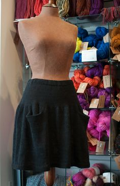 Ravelry: Yoked Skirt with Pockets pattern by Cynthia Parker
