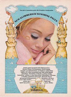 YARDLEY OF LONDON GLIMMERICK AD 1969 Vintage Magazine Advertisement MOD 60s