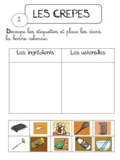 Learn French Videos Food How To Learn French Embroidery Stitches French Teacher, Teaching French, Crepes, St Martin, French Kids, French Food, Grande Section, French Classroom, Kindergarten