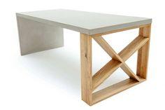 Beton Tisch mit Massivholz Radomi - Dieses sehr elegente und moderne Möbelstück überzeugt durch seine außergewöhnliche Optik #beton #concrete #design #wohnen #möbel #ideen #einrichtung #wohnzimmer #luxus #style #art