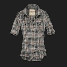 Abercrombie & Fitch Women Plaid Shirts - I love the plaid....not too keen on the brand could probably find something similar at Forever 21