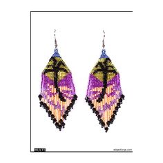 Palm Tree Beaded Earrings ($10) ❤ liked on Polyvore