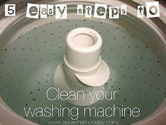 Deep cleaning the washing machine.
