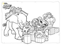 animal jam animals coloring pages snow leopard | Animal Jam Snow Leopard Coloring Page | Animal jam ...