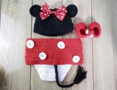 Minnie Mouse crochet knitted photo prop baby costume on Etsy, $18.99