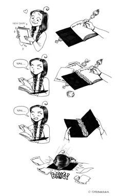Keeping a diary is a struggle..