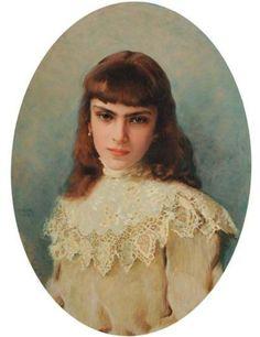 Vittorio Matteo Corcos, Ritratto di fanciulla (1903)